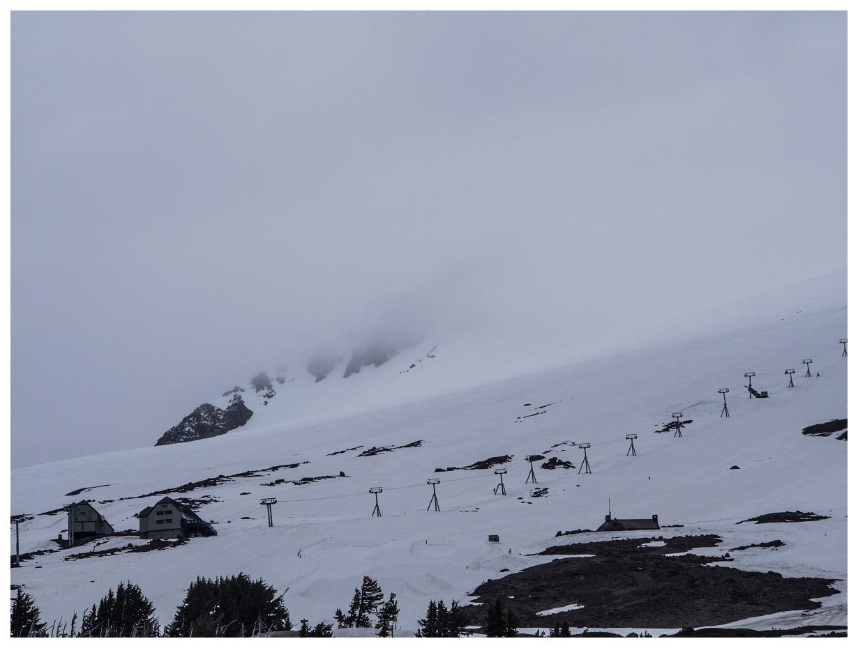 Mt Hood on a foggy day