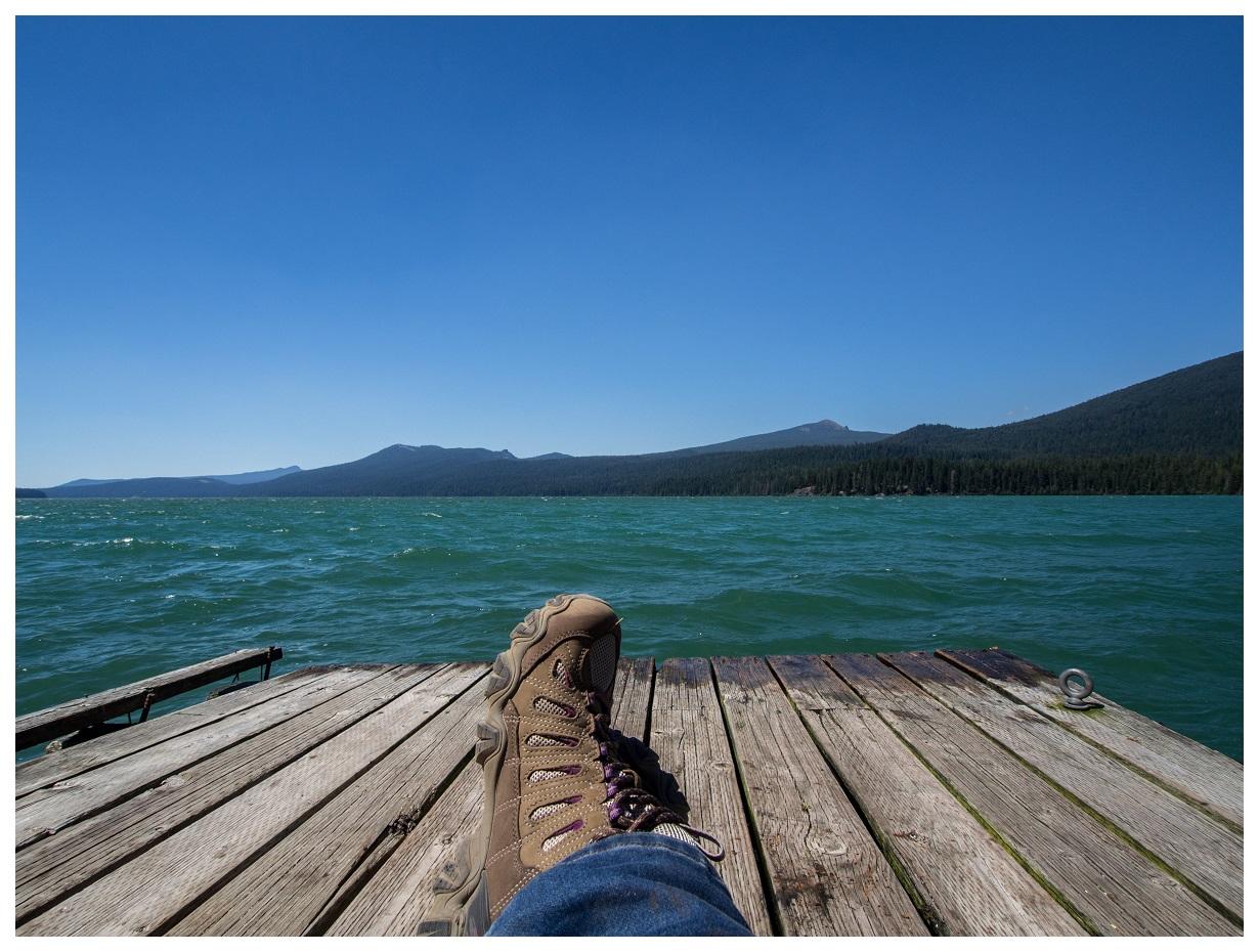 Dock on Odell Lake