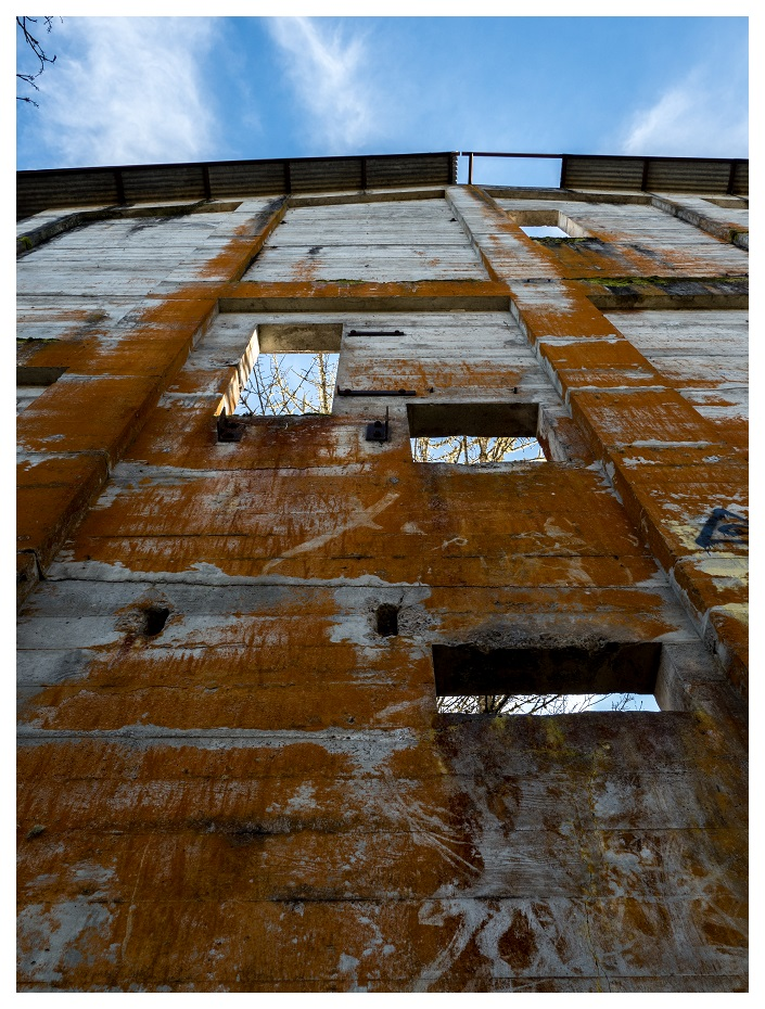 Outside the abandoned mill in Oregon