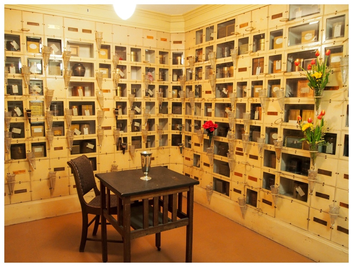 Cremains in The Portland Mausoleum