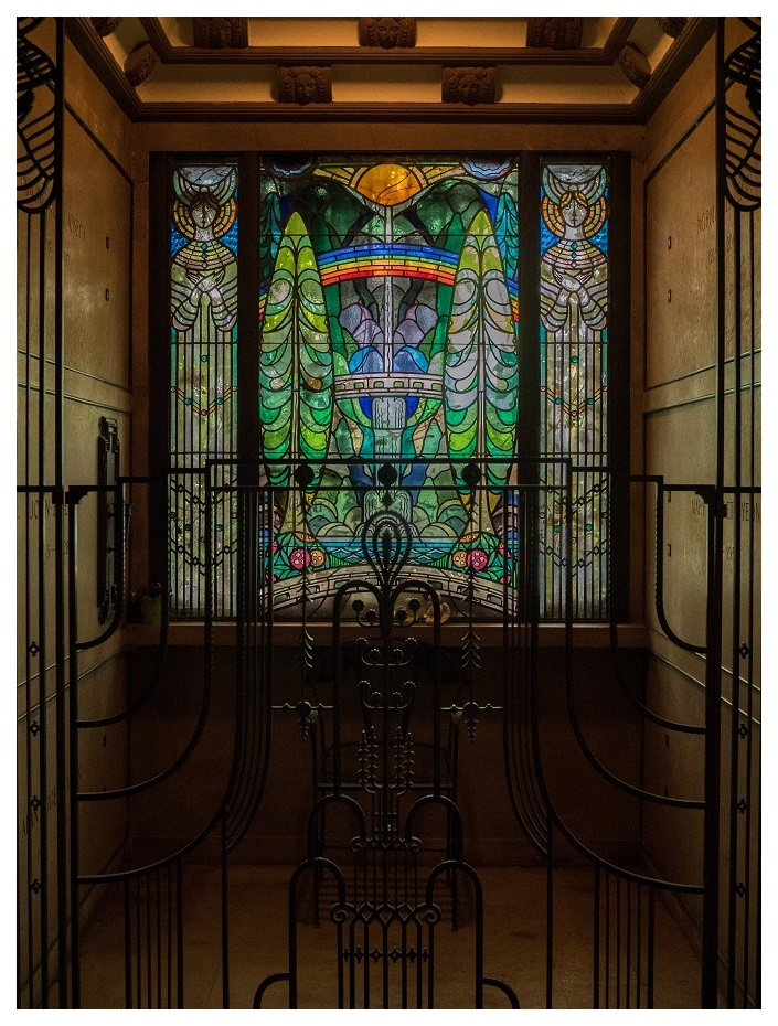 Multnomah Falls in Stained Glass