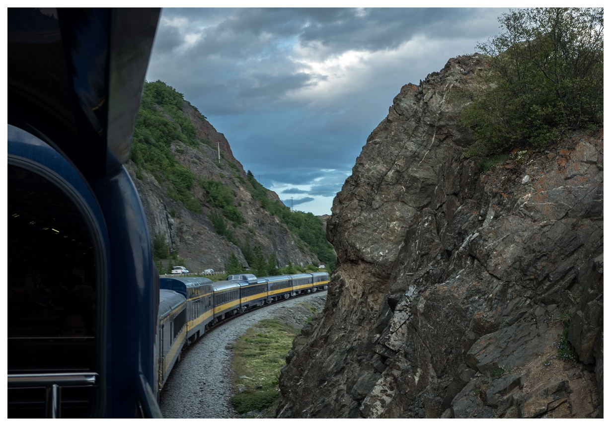 Alaska Railroad from Deck of Gold Star Class