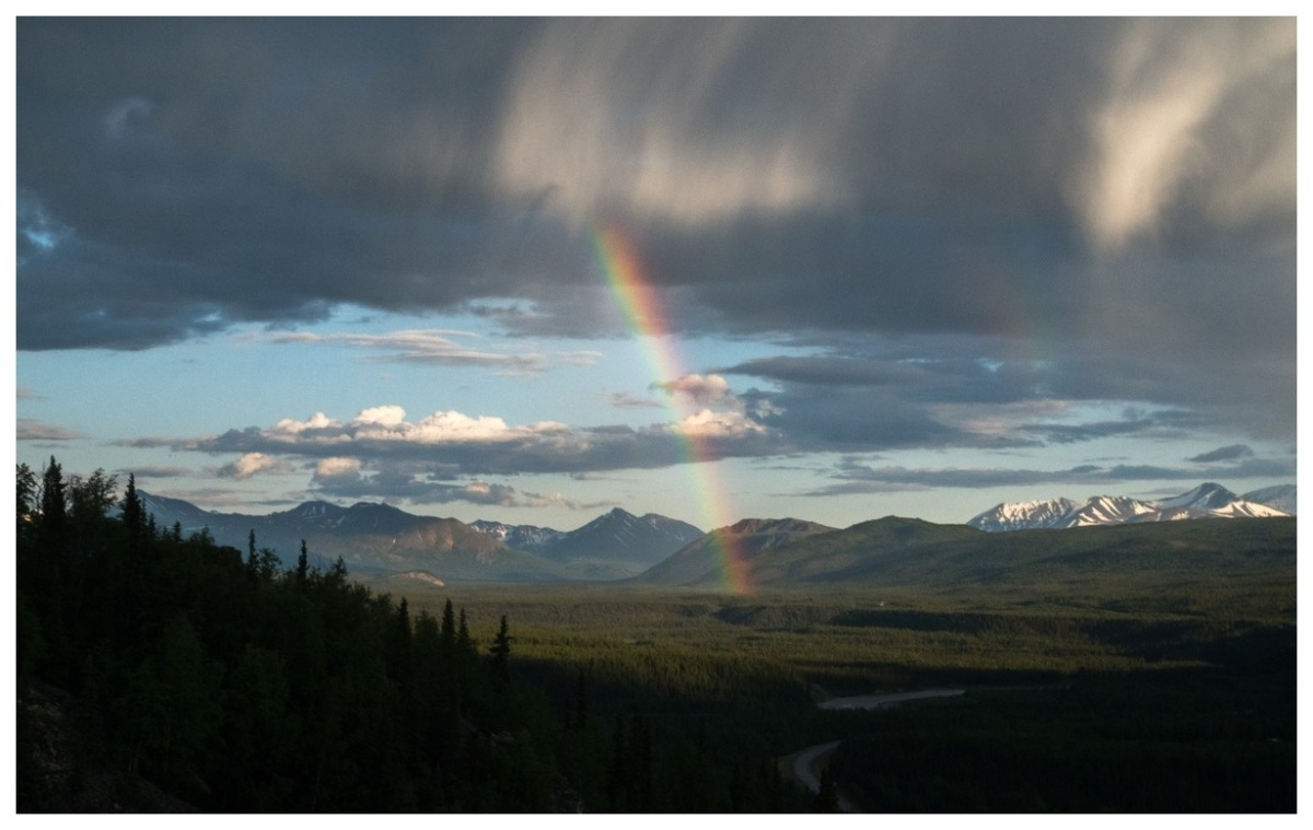 Rainbow near the entrance to Denali National Park