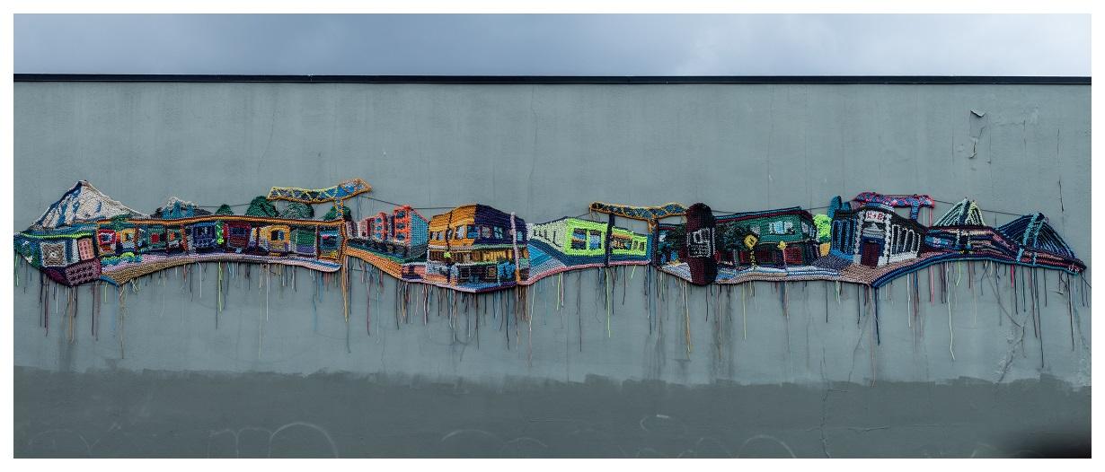 Crocheted Cityscape in Fo-Po